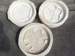 昔の家紋成型石膏型