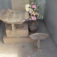 昔の瓦製造木製成型具